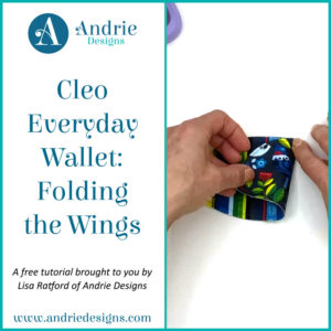Cleo Everyday Wallet - Folding the Wings - Andrie Designs