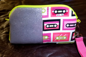 Retro cassette tapes Gemma Carryall Pouch - Andrie Designs
