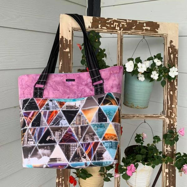 Carries Market Tote - Customer Creations - December 2019 - Andrie Designs