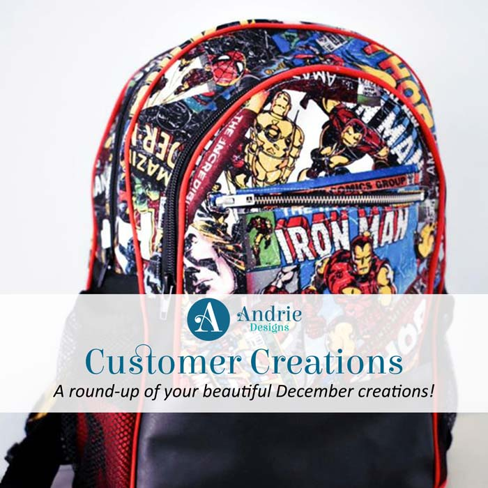 Customer Creations - December 2019 - Andrie Designs