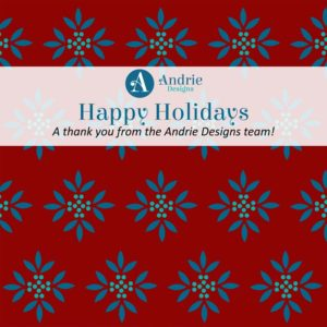 Holiday Thank You from Andrie Designs - 2019