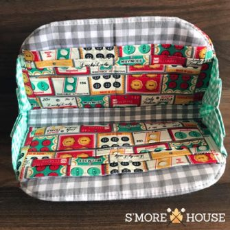 Inside the sewing-themed Cleo Everyday Wallet - Andrie Designs