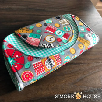 Fun and funky sewing-themed Cleo Everyday Wallet - Andrie Designs