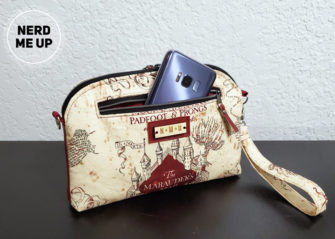 Back pocket on the Marauder's Map Gemma Carryall Pouch - Andrie Designs