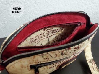 Inner pocket of the Marauder's Map Gemma Carryall Pouch - Andrie Designs