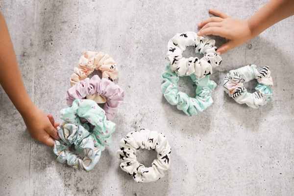 Scrunchies - Homemade Gifts Kids Can Sew - Andrie Designs