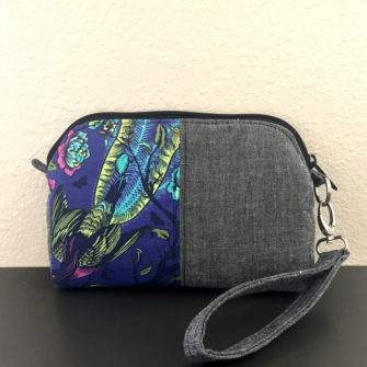 Stunning navy floral Gemma Carryall Pouch - Andrie Designs