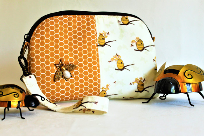 Beautiful bumblebee Gemma Carryall Pouch - Andrie Designs