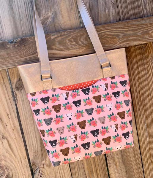 Cheryl's Classic Market Tote - Customer Creations - January 2020 - Andrie Designs