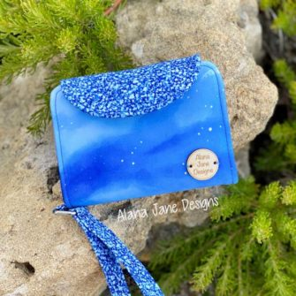 Alana's Bright Blue Layla Essentials Purse - Andrie Designs