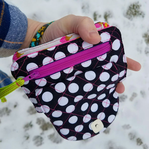 Back of Leslie's Layla Essentials Purse - Andrie Designs
