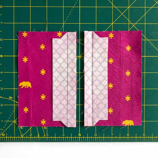 Centre Side Panels placement - Layla Coin Pouch - Andrie Designs