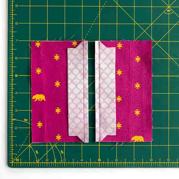 Centre Side Panels sewn and trimmed - Layla Coin Pouch - Andrie Designs