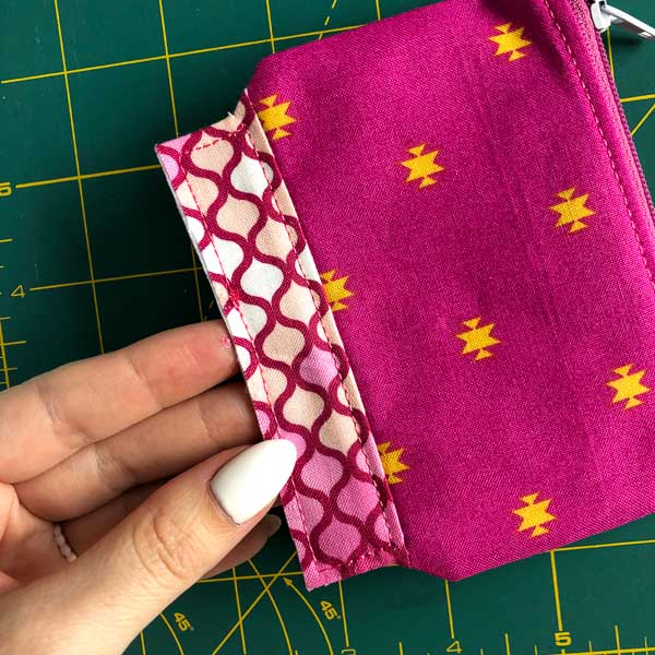 Centre side panel stitched - Layla Coin Pouch - Andrie Designs
