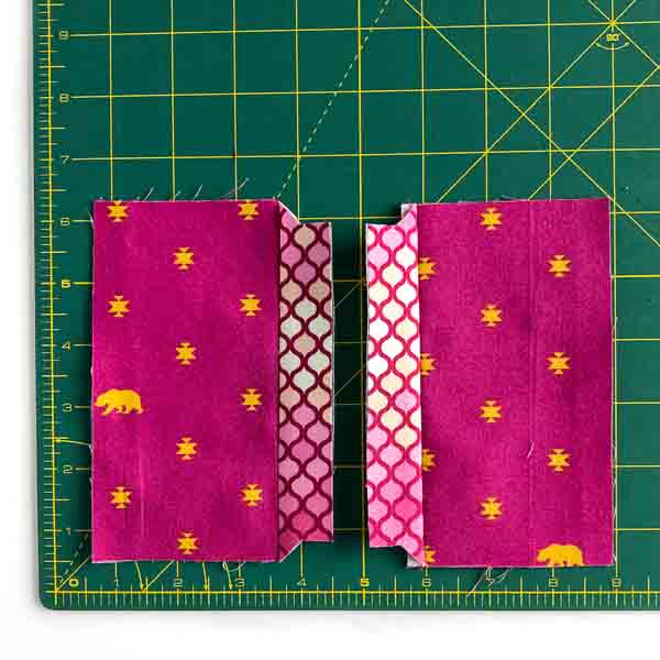 Centre side panels pressed - Layla Coin Pouch - Andrie Designs