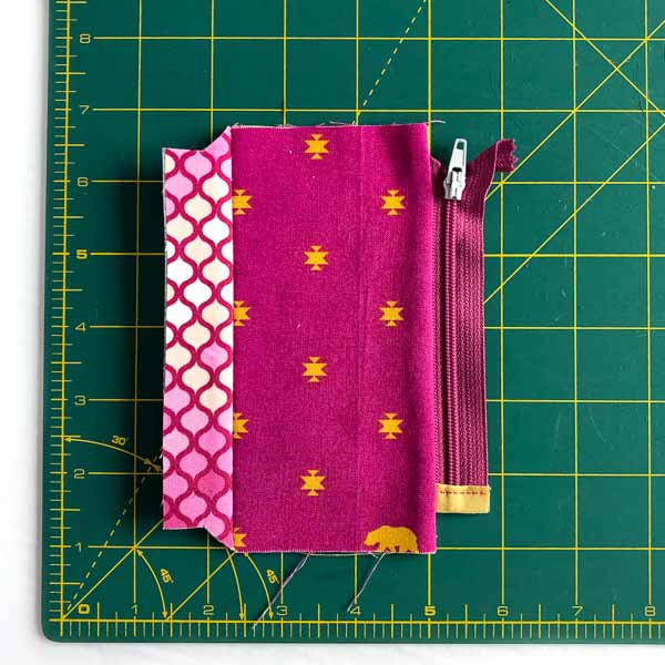 Fabric pressed away from zipper - Layla Coin Pouch - Andrie Designs