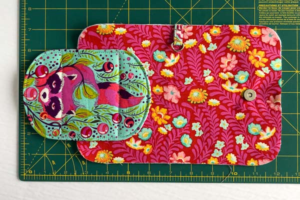 Flap stitched on - Layla Coin Pouch - Andrie Designs