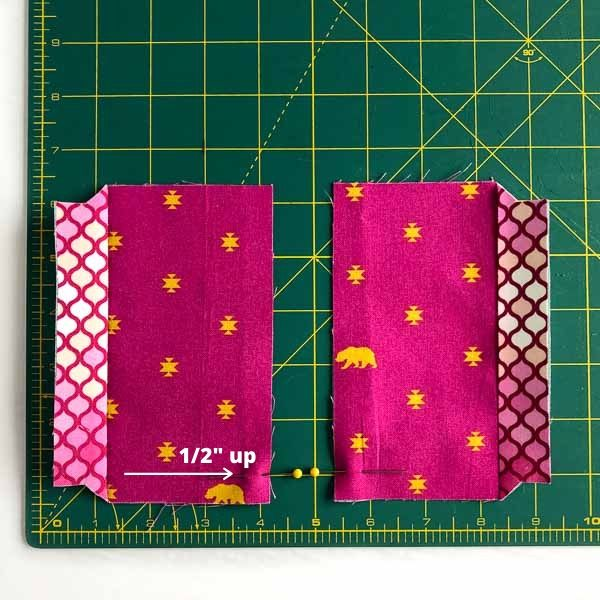 Half inch mark for zipper placement - Layla Coin Pouch - Andrie Designs