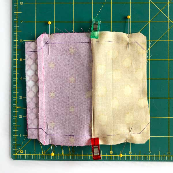 Half inch seam allowance drawn on - Layla Coin Pouch - Andrie Designs