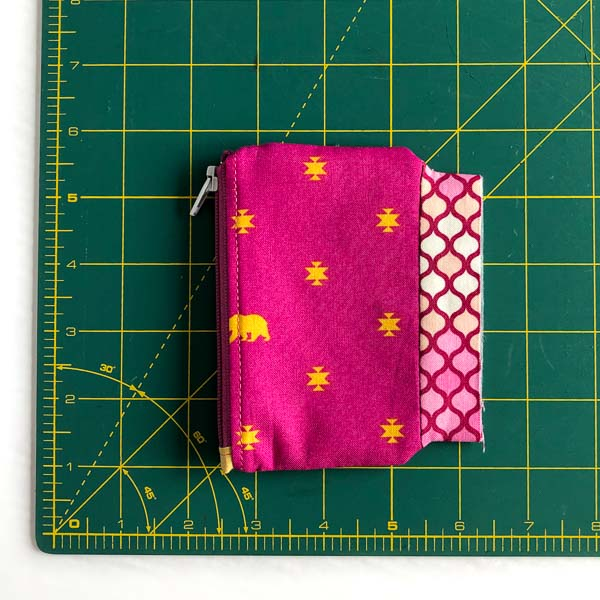 Inner inside and pressed - Layla Coin Pouch - Andrie Designs