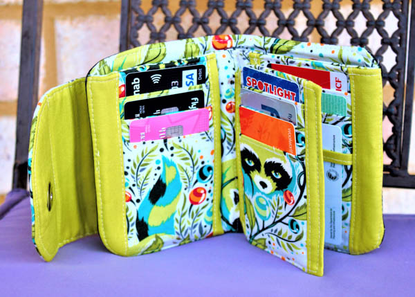Inside of Rosemarie's Layla Essentials Purse - Andrie Designs