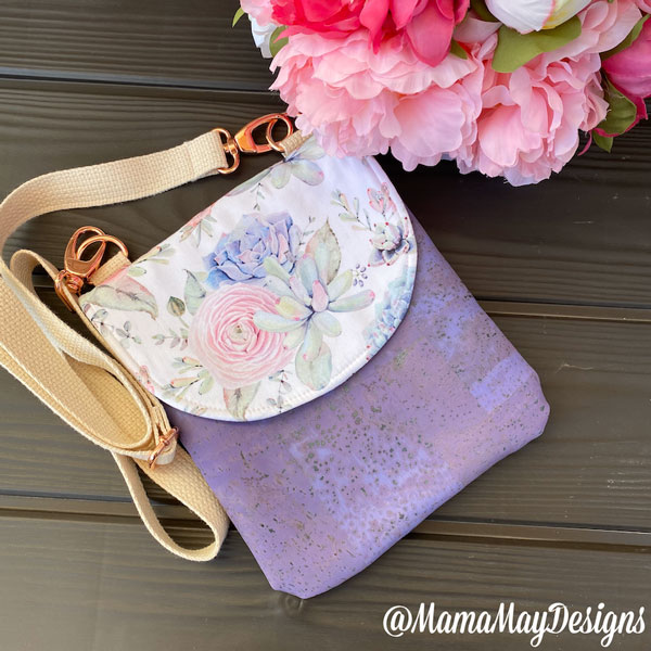 Floral and cork Polly Cross Body Pouch - Andrie Designs