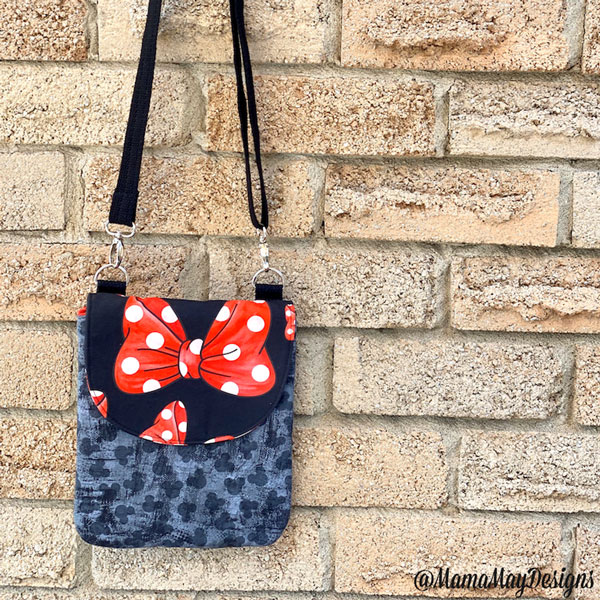 Minnie Mouse-themed Polly Cross Body Pouch - Andrie Designs