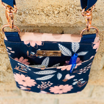 Back of the Blush Polly Cross Body Pouch - Andrie Designs