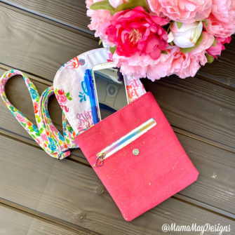 Open view of the 'Live Creatively' Polly Cross Body Pouch - Andrie Designs