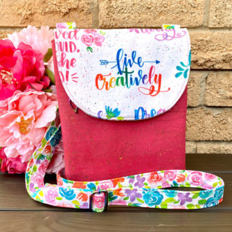 'Live Creatively' Polly Cross Body Pouch - Andrie Designs
