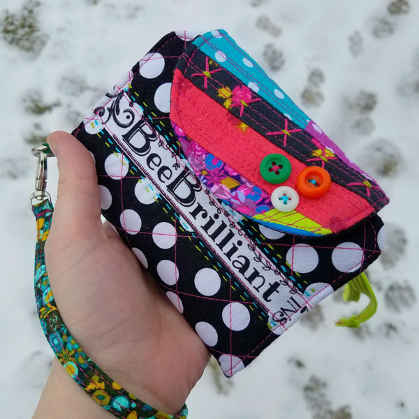 Leslie's quilted and colourful Layla Essentials Purse - Andrie Designs