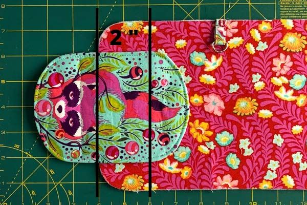 Mark for flap placement - Layla Coin Pouch - Andrie Designs