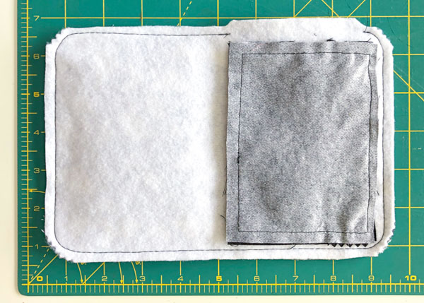 Rest of the seam allowance trimmed except opening - Layla Made Easy - Andrie Designs