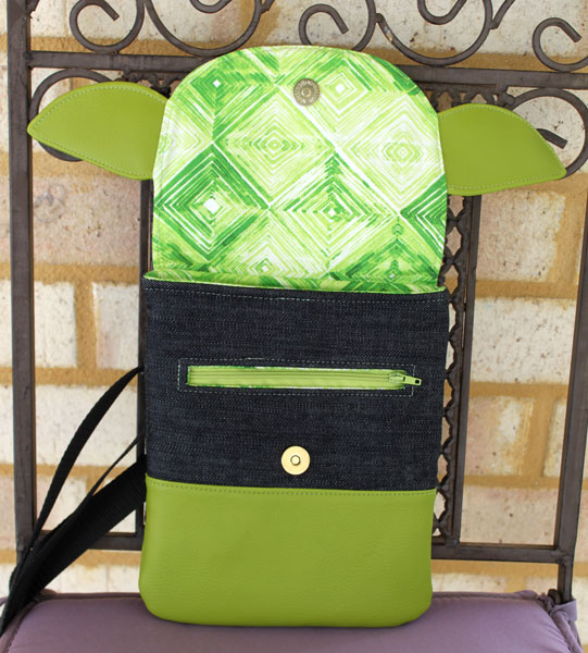Inside the Yoda-themed Polly Cross Body Pouch - Andrie Designs