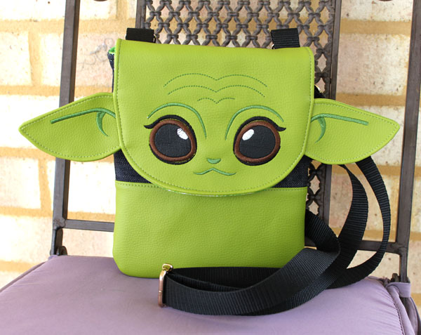 Yoda-themed Polly Cross Body Pouch - Andrie Designs