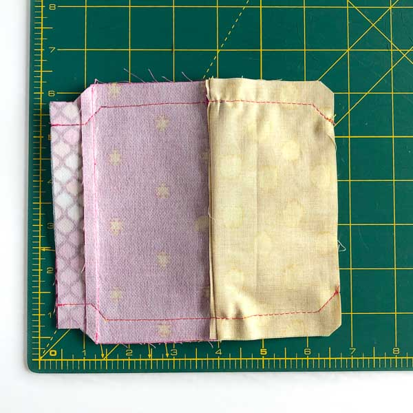 Seam allowance stitched - Layla Coin Pouch - Andrie Designs