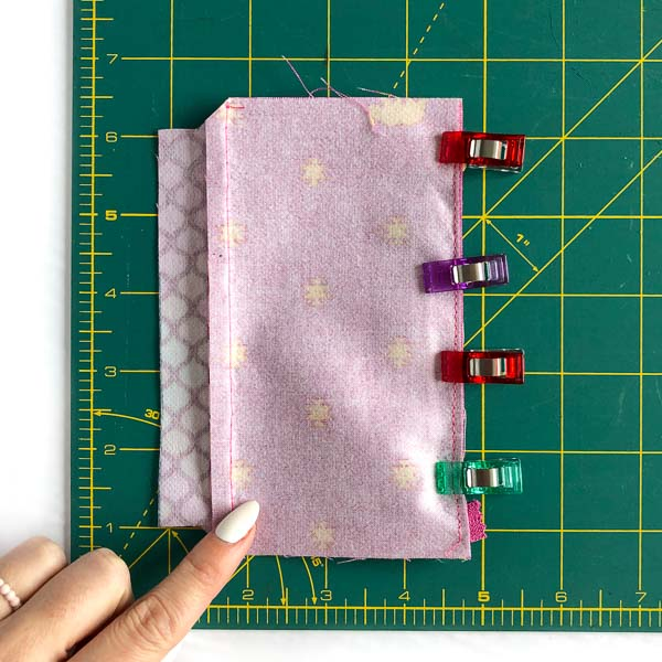 Stitch on interfacing side - Layla Coin Pouch - Andrie Designs