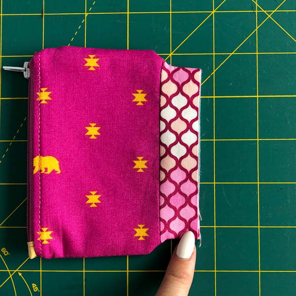 Topstitch centre side panel only - Layla Coin Pouch - Andrie Designs
