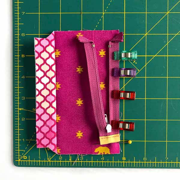 Zipper clipped on - Layla Coin Pouch - Andrie Designs