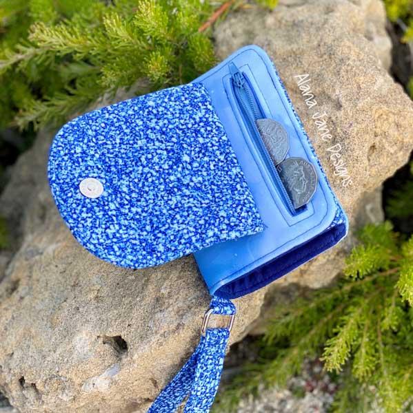 Zipper pocket of Alana's Layla Essentials Purse - Andrie Designs