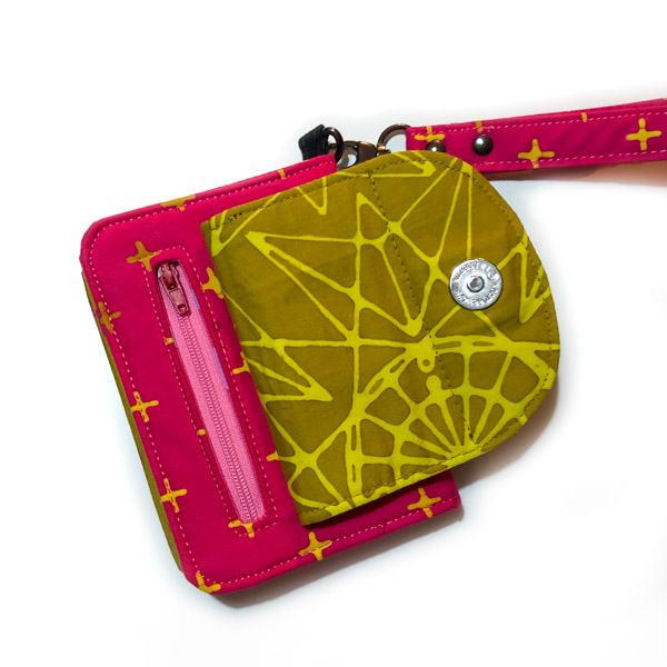 Zipper pocket on Aimee's Layla Essentials Purse - Andrie Designs