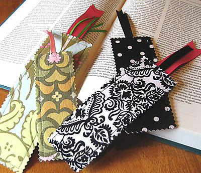 Fabric Bookmarks - Scrap Busting Projects - Andrie Designs