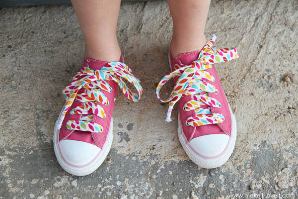 Fabric Shoelaces - Scrap Busting Projects - Andrie Designs