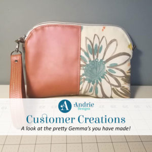 Customer Creations - Gemma Carryall Pouch - Andrie Designs