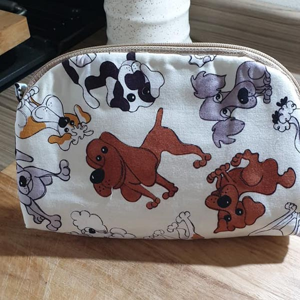 Janets Puppy Gemma - Customer Creations - Gemma Carryall Pouch - Andrie Designs