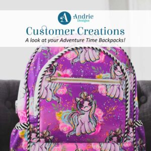 Customer Creations - Adventure Time Backpack - Andrie Designs