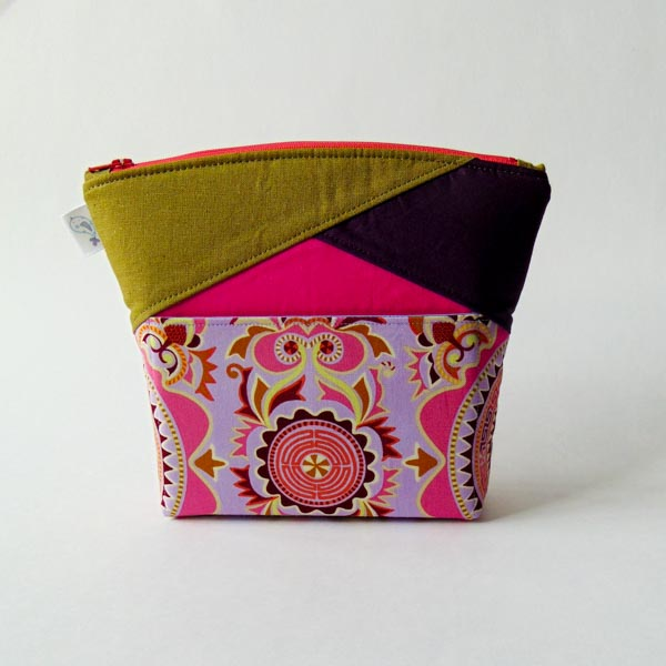 Finished - Zip Top Stand Up Clutch - Andrie Designs