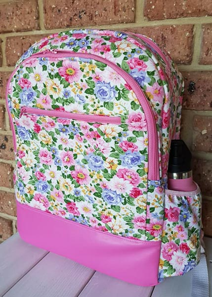 Hannah's floral Backpack - Customer Creations - Adventure Time Backpack - Andrie Designs
