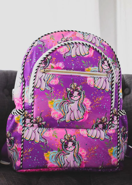 Jodie's Unicorn Backpack - Customer Creations - Adventure Time Backpack - Andrie Designs