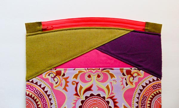 One side sewn - Zip Top Stand Up Clutch - Andrie Designs